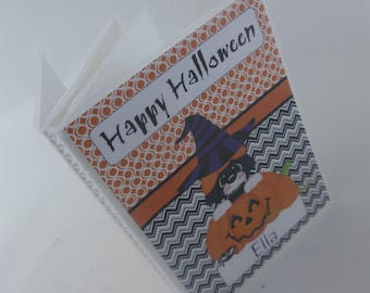 HALLOWEEN photo album Girl photo album personalized photo album Boy happy halloween Jack o lantern 4x6 or 5x7 picture black cat pumpkin 435