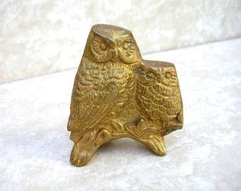 Vintage Brass Owl Figurine