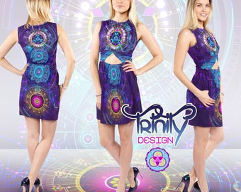 Hippie Dress Gypsy Dress Music Festival Clothing EDM Clothing Rave Outfit Rave Clothing Psychedelic Dress Psy Trance Hippie Clothes Trippy