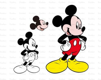 Mickey mouse svg ,mickey clubhouse svg mickey svg files for cricut |ai Files dxf Files SVG Files, Cricut Cut Files, Silhouette Cut Files