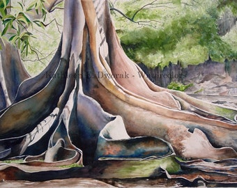Jurassic Tree- signed limited edition watercolor print