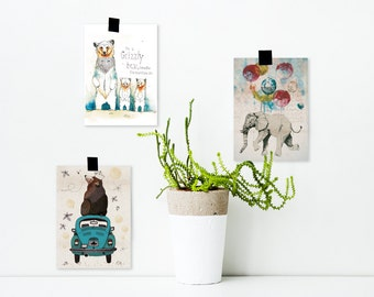 Postcards package / / 3 pieces