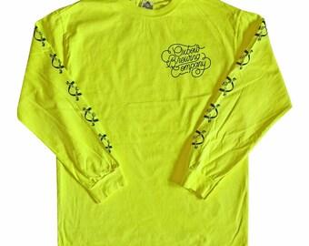 Black on Yellow Oxbow BAFPA Logo Longsleeve Shirt