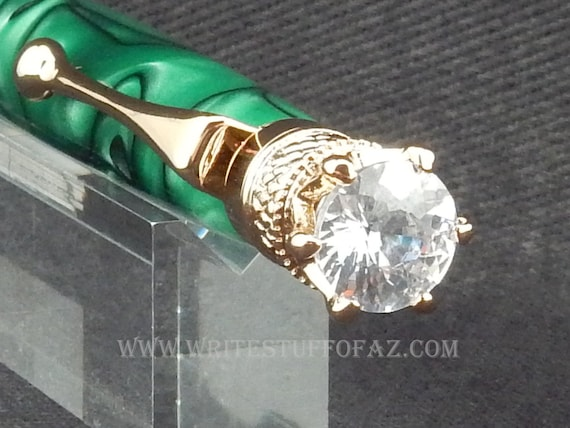 Mother's Day Green Twist Pen, Adorned with Swarovski Crystal
