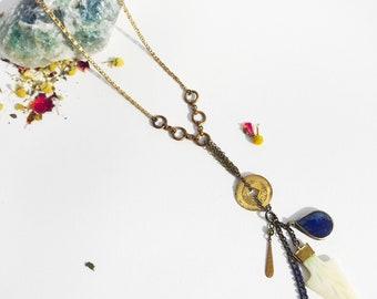 Artisan White Arrowhead Necklace