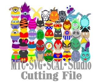 SVG Cut File 40 plus Easter Egg Mega Bundle  SCAL MTC Cricut Silhouette Cutting Files