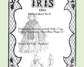 Iris Fashion Pattern 1855, No 27,  full size reprint