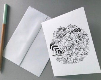 Rose Garden Print (Note Card)