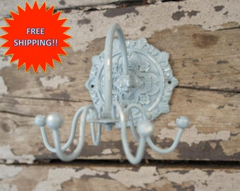 Shabby Chic Jewelry Holder // Vintage Style Jewelry Holder // Jewelry Hanger // Necklace Holder // Rotating Jewelry Holder// Necklace Hanger