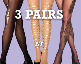 Sale! save 15% off on 3 pairs of your choice, sheer and opaque tights