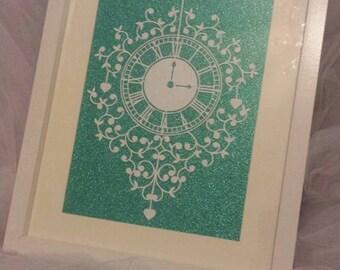handmade clock papercut