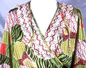 Abstract Flowing Judi Michael Dress 1980's