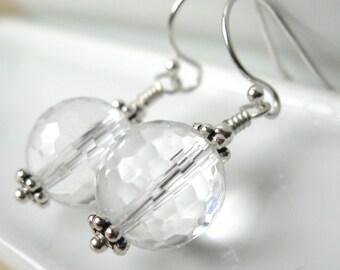 Pure Ice earrings Crystal Quartz gemstone earrings