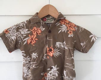 Toddler Boys Hilo Hatties Hawaiian Tiki Short Sleeve Shirt - 3T