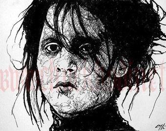 "Print 8x10"" - Edward Scissorhands - Johnny Depp Tim Burton Gothic Horror"