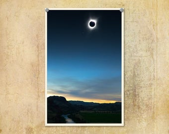 Landscape Photography | Total Solar Eclipse | Eastern Oregon | Oregon Eclipse 2017 | Oregon Photograph | Astronomy Print