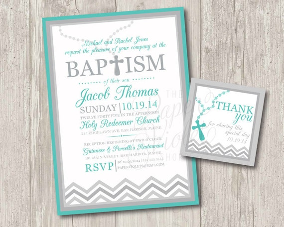 Printable baby boy baptism invitations with rosary free stopboris Images