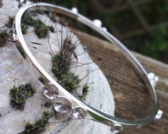 Solid 925 sterling silver Causeway bangle