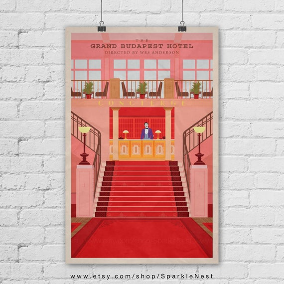 The Grand Budapest Hotel Art Print. Wes Anderson Poster. A1 Poster. Pop Art Print. Pop Culture And Modern Home Decor Poster. Item No. 318 by Etsy