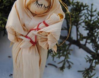 Corn husk Virgin Mary Christmas Tree Ornaments
