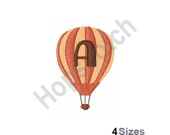Balloon Font A - Machine Embroidery Design - 4 Sizes, Letter A, Hot Air Balloon Font