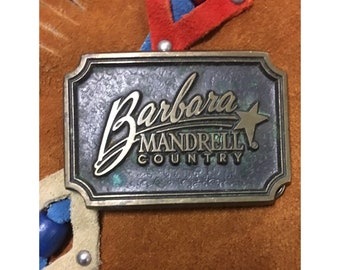 Vintage Barbara Mandrell Country Belt Buckle