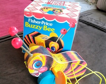 1987 Vintage Fisher Price Buzzy Bee #6550