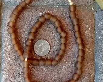 Ghana Glass Beads: Copper Brown 10mm