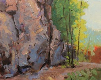 The Rocky Path – Original Small Oil Painting