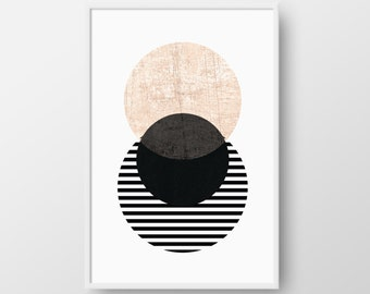 Scandinavian Poster, Printable Geometric Art, Circle Scandinavian Print, Minimal Print, Best Selling Art, Nordic Poster, INSTANT DOWNLOAD