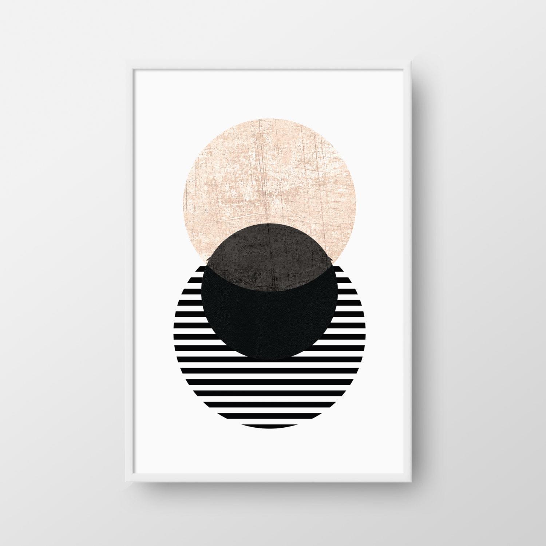 Scandinavian Poster Printable Geometric Art Circle