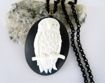 Snowy Owl Necklace Large Pendant