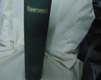 Vintage 1960 Newsweek Magazines In Bound Hardcover Book, Number 56, Part 2,  Oct-Dec, collectable