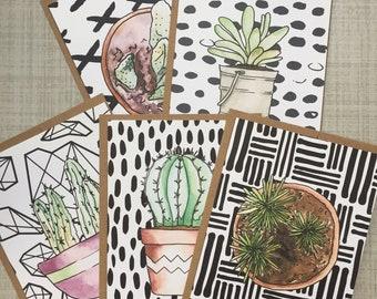 Cacti Card Set - Greeting Cards - Just Juliana Shop