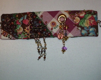 Crazy Quilt Patchwork Bracelet Cuffk