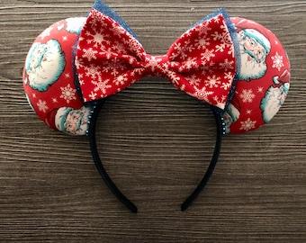 Santa and Snowflakes, Holiday Ears, Disney Ears