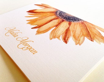 Greeting Cards, Sunflower Card, Note Cards, Stationery, Card Set, Personalized Card, Set of 8