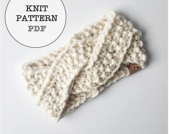 Knitting Pattern / Alaskan Knot Headband Knitting Pattern / Whiteowlcrochetco Knitting Pattern / Headband Knitting Pattern
