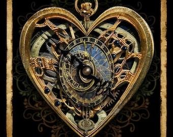The Clockwork Heart -  Art Print by Brian Giberson