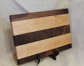 Cheese / Sushi Board Striped with Hardwoods Walnut and Cherry