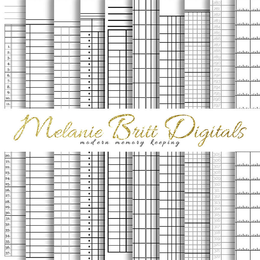SPREADSHEETS Digital Paper Grids Columns Drafting Office