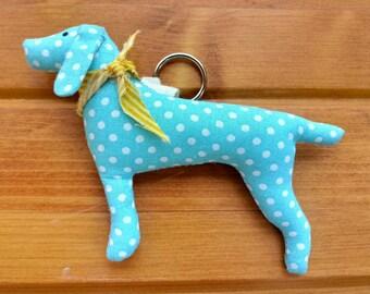 Blue dog key chain