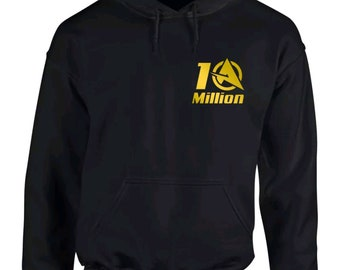 Ali-a 10 million inspired gold logo hoodie