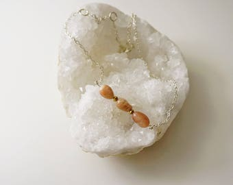 Sunstone on Sterling Silver Necklace