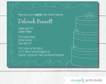 Cake Invitation (Custom DIY Digital File)