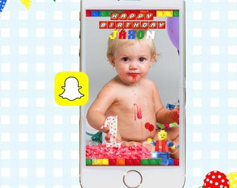Lego Snapchat GeoFilters, Birthday Snapchat Filters, Custom Snapchat Filter, Legos Snapchat GeoFilter, Lego Birthday Party, Legos Filter