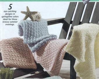 Vintage SpringtimeThrows Knitting Pattern 5-in-1 Download