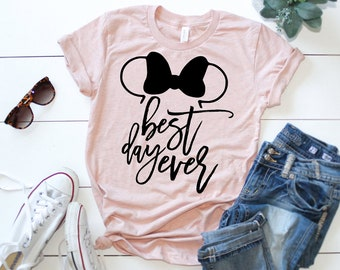 Best Day Ever Adult Shirt | Minnie Mouse Ears | Disney Inspired Shirt | Mouse Ears | Best Day Ever | Tangled