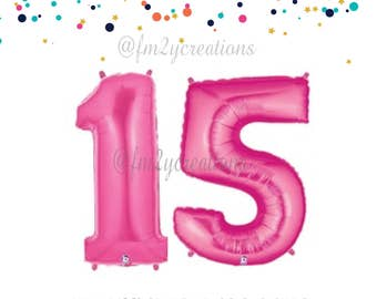 """Pink Quinceanera Balloons 