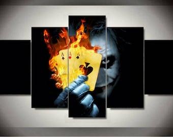 5 Panels The Joker DC Comics Canvas Art Multi Grouped Art Work
